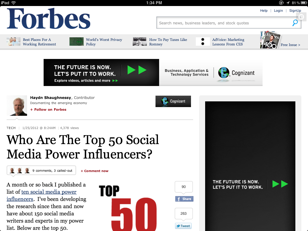 Chris Voss Makes #18 On Forbes Top 50 Social Media Power Influencers