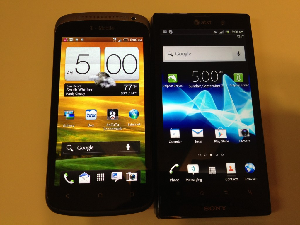 HTC One S vs. Sony Xperia Ion