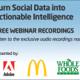 Morning members! Something I thought would be of value: Useful Social Media recently hosted a FREE webinar on turning social data into actionable intelligence to enhance both customer understanding, and...