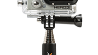 Xshot.com Directly fits all GoPro Hero Cameras without any adapters Very versatile GoPro Pole : compact 9′, and sturdy with a long 38′ reach Base of monopod has 1/4″-20 female...