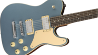 "Fender.com FEATURES Mahogany body with bound, maple top and lacquer finish American Professional Tele neck with large Strat headstock; 9.5""-radius rosewood fingerboard Shawbucker 1T and 2T humbucking bridge and neck..."