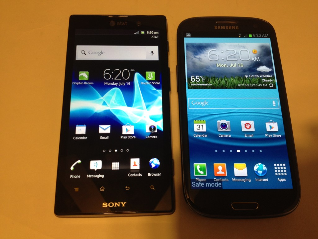 Samsung Galaxy S3 vs. Sony Xperia Ion Comparison Review #Attmobilereview @Att