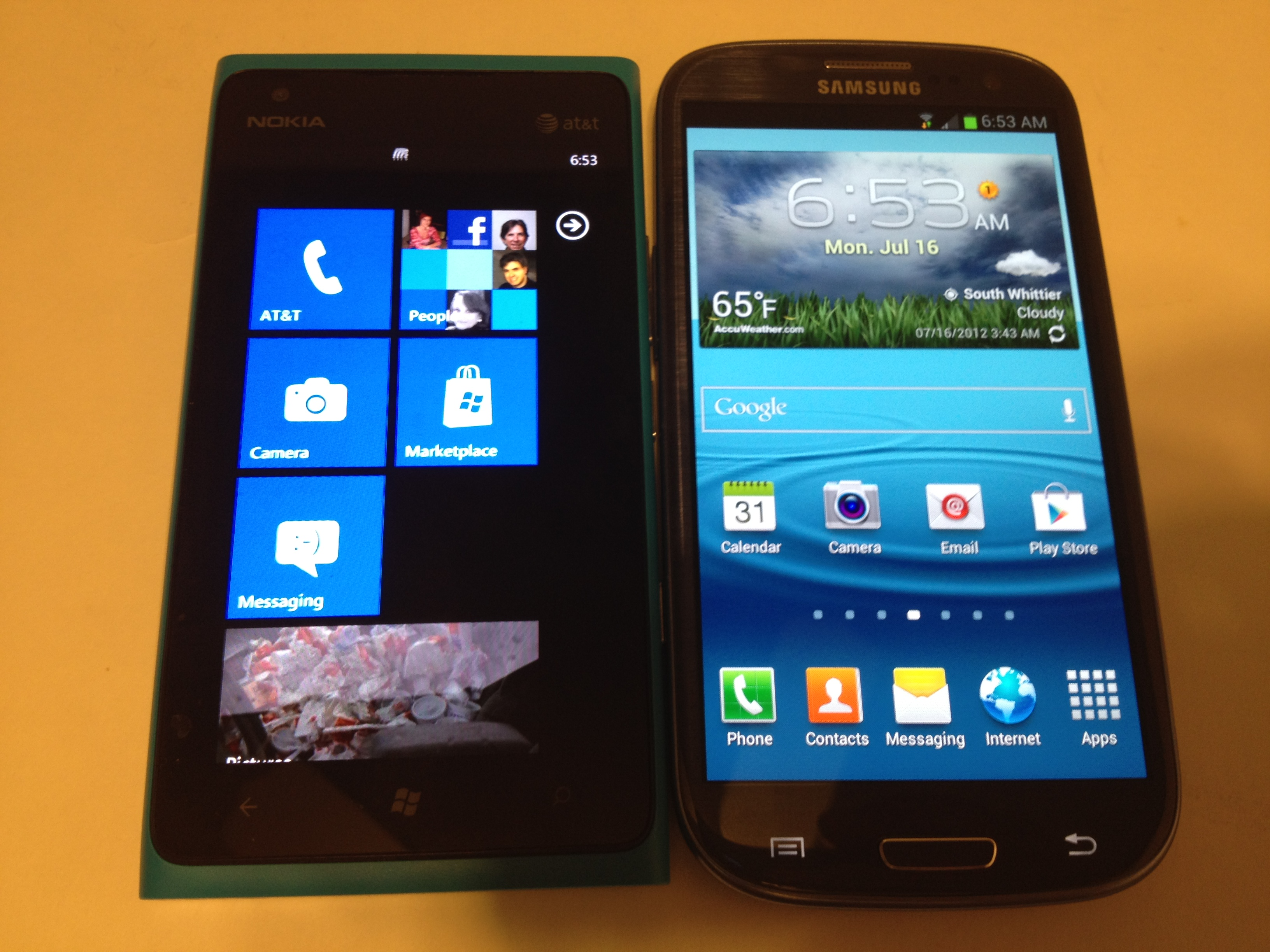 Samsung Galaxy S3 vs. Nokia Lumia 900 Comparison Review #