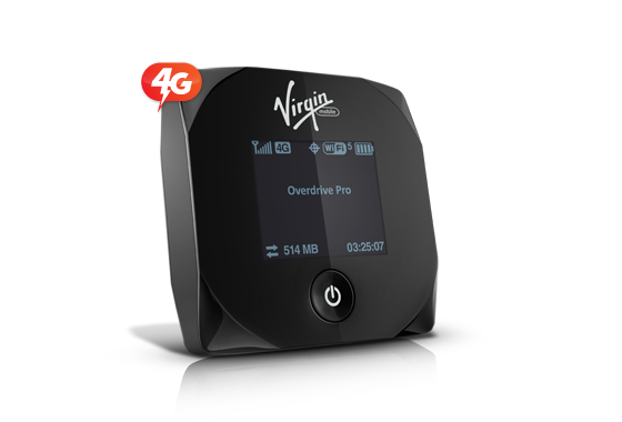 Virgin Mobile Sierra Wireless Overdrive Pro 3G/4G Hotspot Review and Giveaway