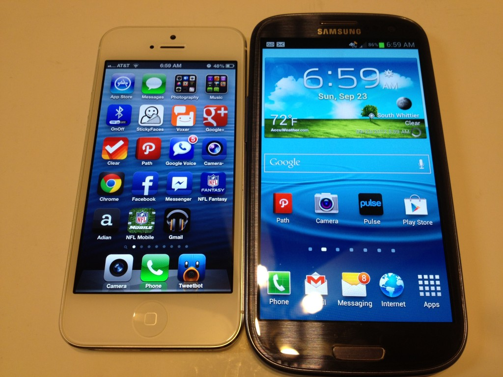 iPhone 5 vs. Samsung Galaxy S3 Benchmarks Only Review
