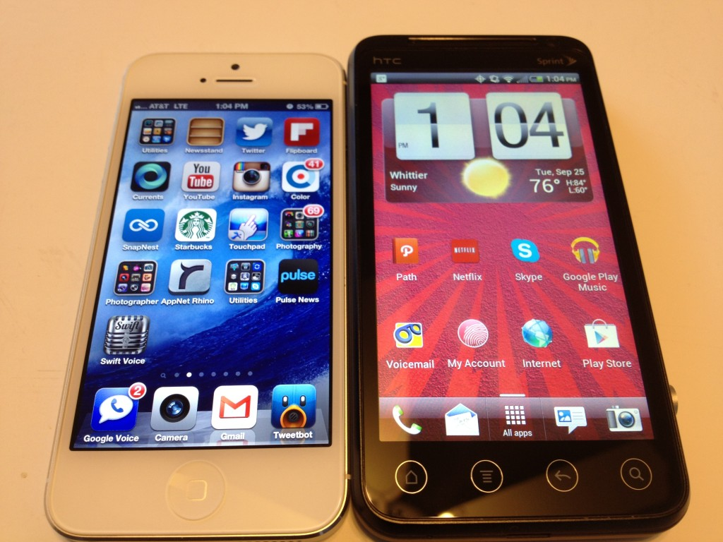 iPhone 5 vs. HTC EVO V 4G Review