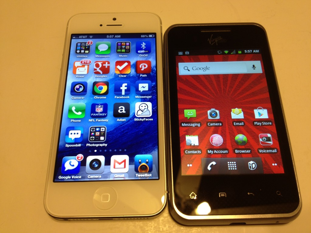 iPhone 5 vs. LG Optimus Elite Review @VMUCare @virginmobileus