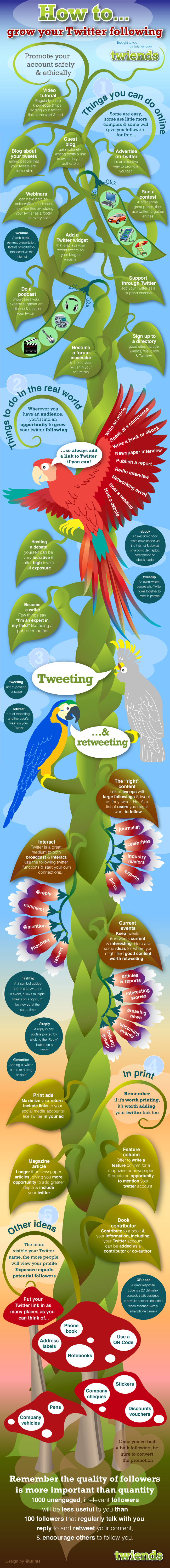 How To Grow Your Twitter Following Infographic