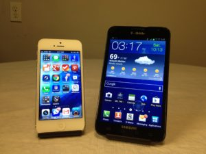 iPhone 5 vs. Samsung Galaxy Note
