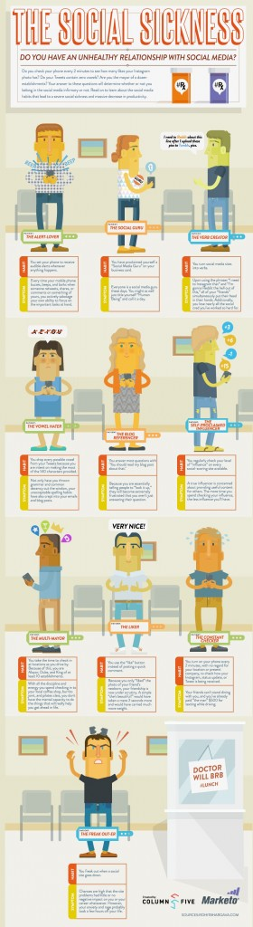 10 Types of Social Media Addicts Infographic
