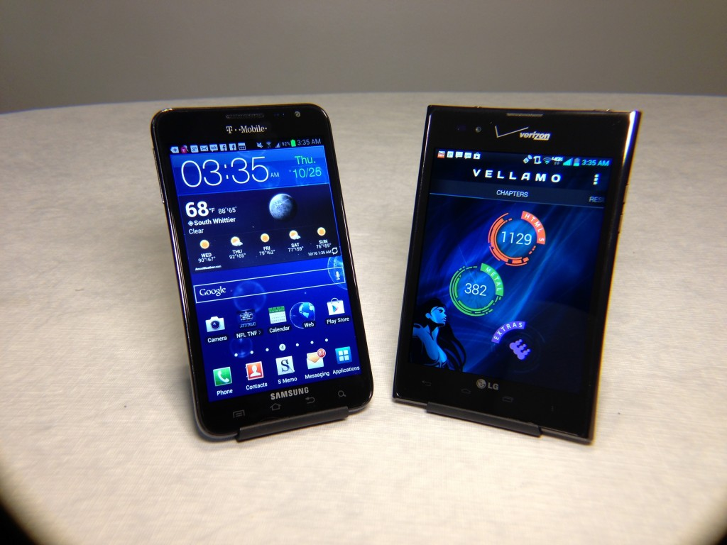 Samsung Galaxy Note vs. LG Intuition Review