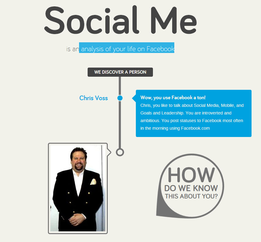 Zeebly Social Me Analysis of Your Facebook Life