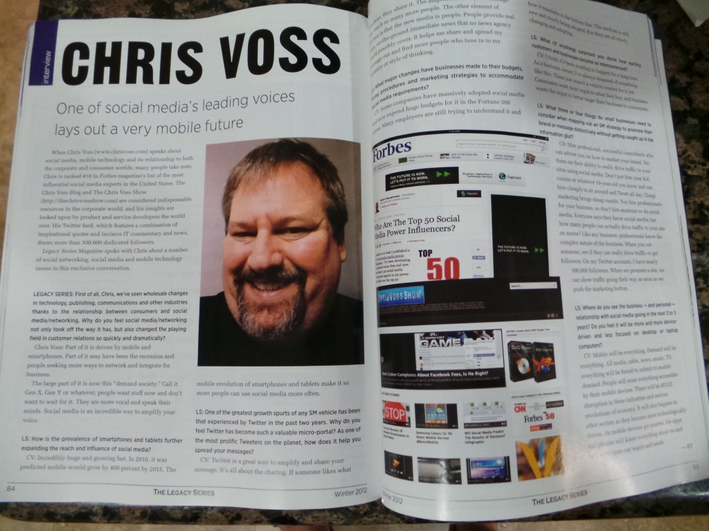 Legacy Series Magazine Interviews Chris Voss
