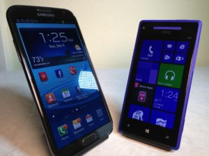 Samsung Galaxy Note 2 vs. HTC 8X Review