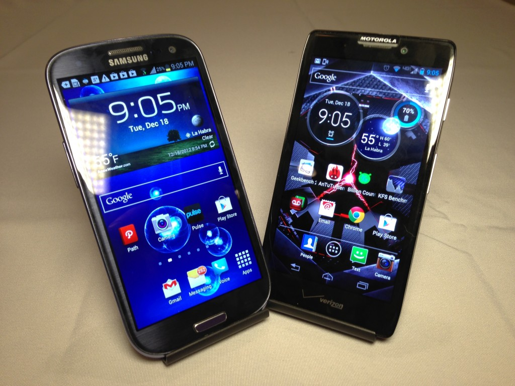 Samsung Galaxy S3 vs. Motorola Droid Razr Maxx HD Review