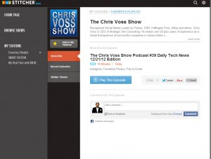 Stitcher App Now Has The Chris Voss Show Podcast Download Today! @Stitcherradio - The Chris Voss Show