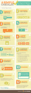 Simple Checklist To Evaluate Your Facebook Page Infographic