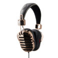 I-MEGO IAH-326G Throne Gold Headphone with Leather Headband and Soft Pouch