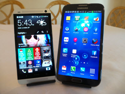 HTC One vs Samsung Galaxy Note 2 #attmobilereview - The Chris Voss Show