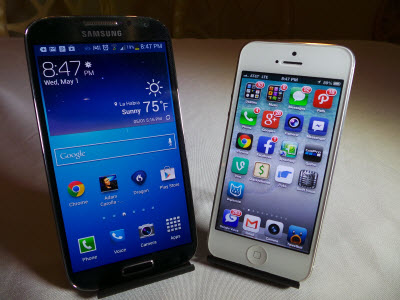Samsung Galaxy S4 vs Apple iPhone 5 Which Is Faster Better Benchmark? #attmobilereview - The Chris Voss Show