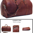 Floto.com The Roma Cabin Bag comes in full grain vegetable tanned Saddle Brown leather and finished with brass hardware. It has a floor-to-floor zipper for easy packing. Inside zip pocket....