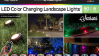 Enbrightenme.com Features 6 LED Lights | 50 feet Perfect year-round use for flower beds, garden, hedges, walkway, deck, patio, entry, spotlight, path light, security lighting, accent lighting, eaves, indoor, team...