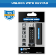Securedrive.com Unlock via on-board keypad. 4GB, 8GB, 16GB, 32GB, 64GB and 128GB options FIPS 140-2 Level 3: In-Process Award Winning: Red Dot 2019 Award Winner IP57 Dust and Water Resistant...