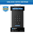 Securedrive.com Features: User authentication via On-board Keypad, completely software free. Slim: 12.5mm (1TB & 2TB HDD), (256GB-8TB SSD) Standard: 20.5MM (up to 5TB HDD) FIPS 140-2 Level 3 Validated: Certificate...